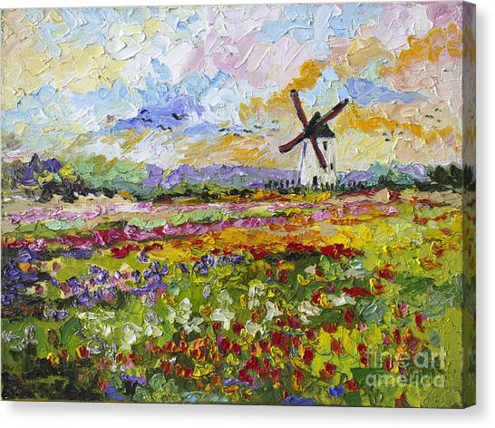 Wild Tulips Dutch Country Side Canvas Print