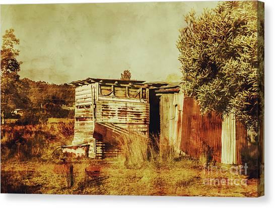 Homestead Canvas Print - Wild West Australian Barn by Jorgo Photography - Wall Art Gallery