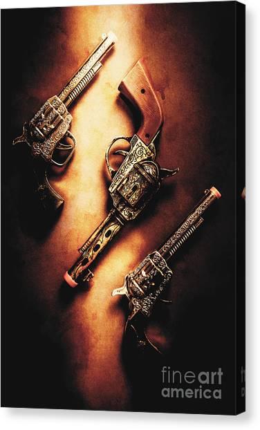 Guns Canvas Print - Wild West Cap Guns by Jorgo Photography - Wall Art Gallery