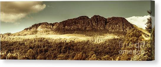 Sunny Day Canvas Print - Wild West Mountain Panorama by Jorgo Photography - Wall Art Gallery