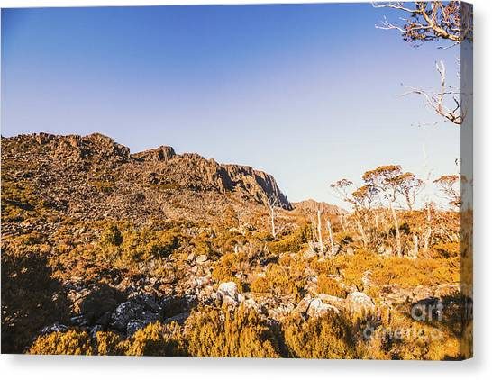 Mountain Cliffs Canvas Print - Wild Wilderness Of Stone Geology by Jorgo Photography - Wall Art Gallery