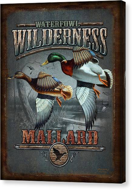 Ducks Canvas Print - Wilderness Mallard by JQ Licensing