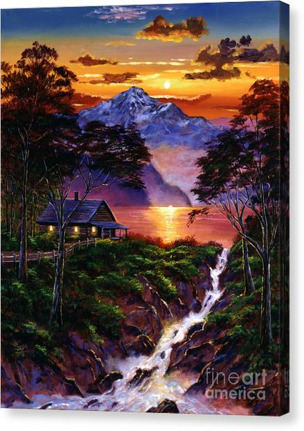 Wilderness Spirit Canvas Print by David Lloyd Glover