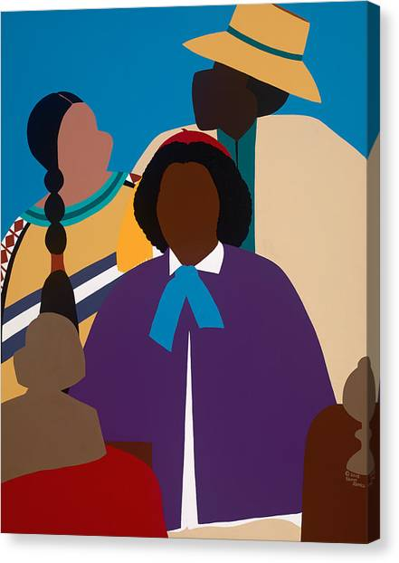 Canvas Print - Wildfire A Tribute To Edmonia Lewis by Synthia SAINT JAMES