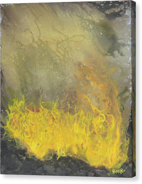 Canvas Print featuring the painting Wildfire by Antonio Romero