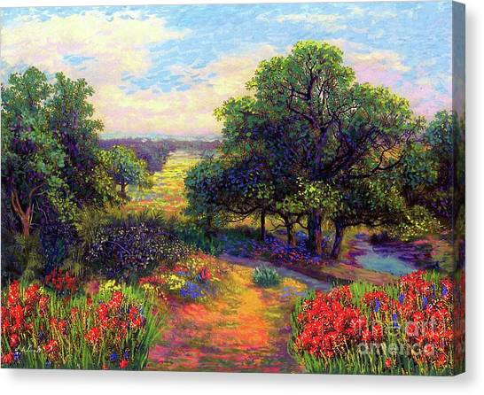 Maple Trees Canvas Print - Wildflower Meadows Of Color And Joy by Jane Small