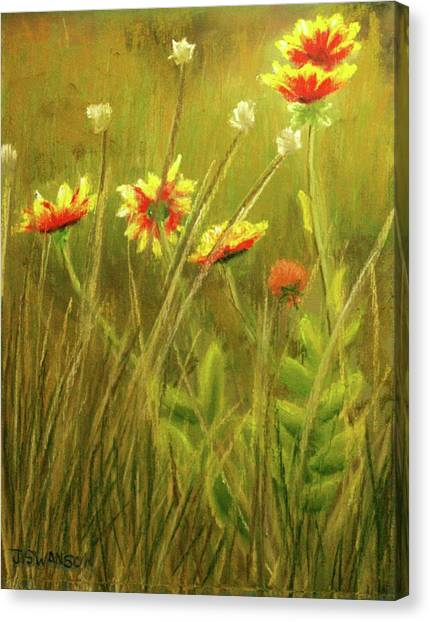 Wildflowers Canvas Print by Joan Swanson