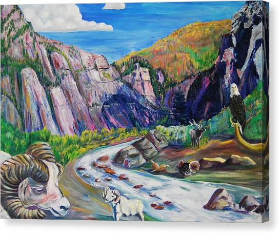 Wildlife On The Colorado River Canvas Print by George Chacon