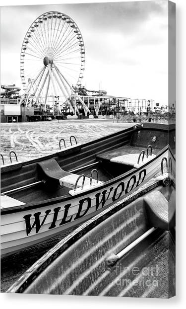 Lifeguard Canvas Print - Wildwood Black 2008 by John Rizzuto