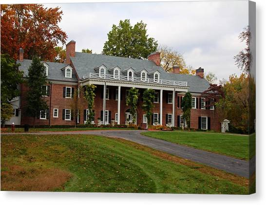 Wildwood Manor House In The Fall Canvas Print