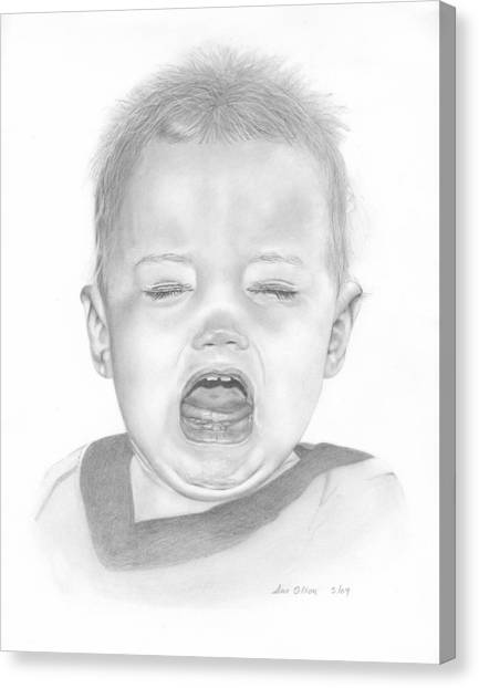 Will In Tears Canvas Print by Sue Olson