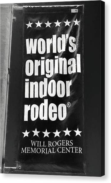 Will Rogers Rodeo Bw Canvas Print