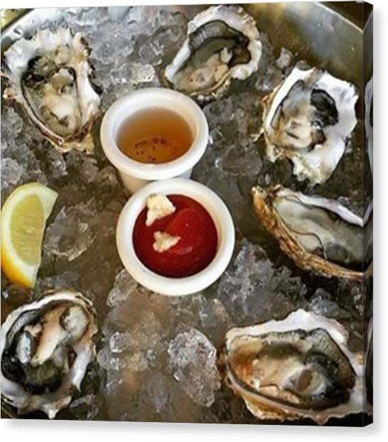 Oysters Canvas Print - Will You Reject This Plate Of Beautiful by Stephanie Low