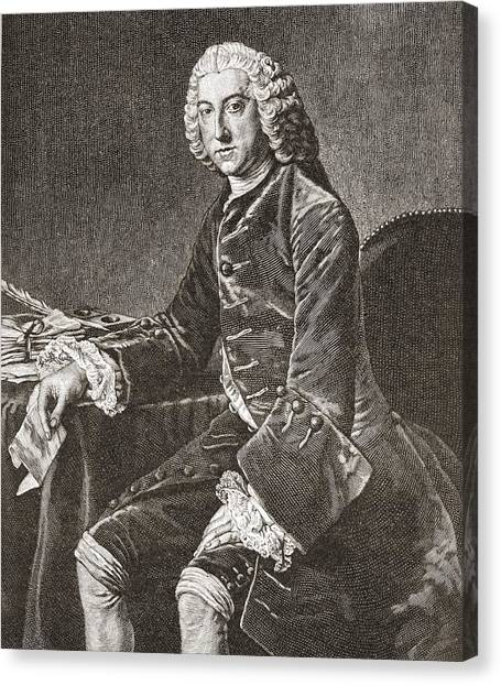 Chatham Canvas Print - William Pitt, 1st Earl Of Chatham, 1708 by Vintage Design Pics