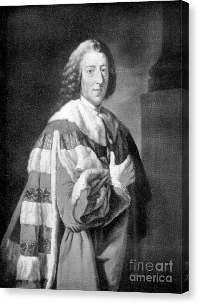 Chatham Canvas Print - William Pitt, Prime Minister Of Britain by Wellcome Images
