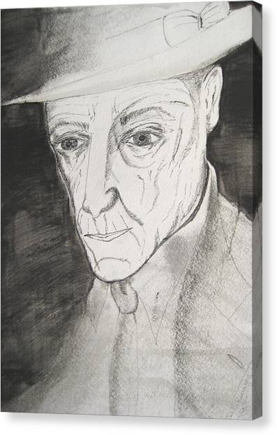 William S. Burroughs Canvas Print by Darkest Artist