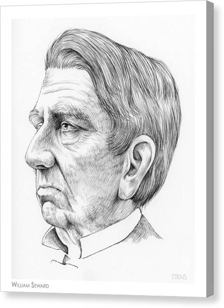 Racism Canvas Print - William Seward by Greg Joens