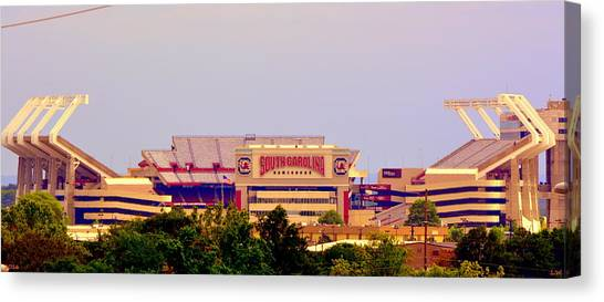 University Of South Carolina Canvas Print - Williams-bryce Stadium 2 by Lisa Wooten