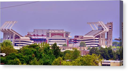 University Of South Carolina Canvas Print - Williams - Bryce Stadium by Lisa Wooten