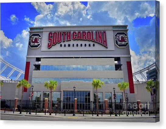University Of South Carolina Canvas Print - Williams Bryce Stadium, Sc by Skip Willits