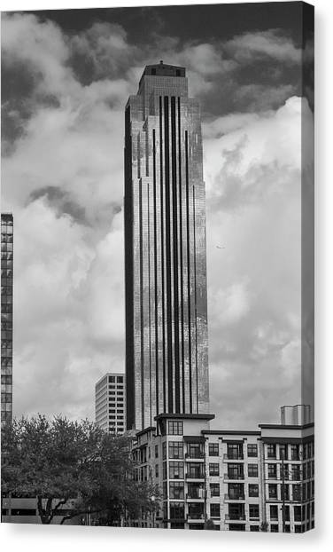 Williams Tower In Black And White Canvas Print