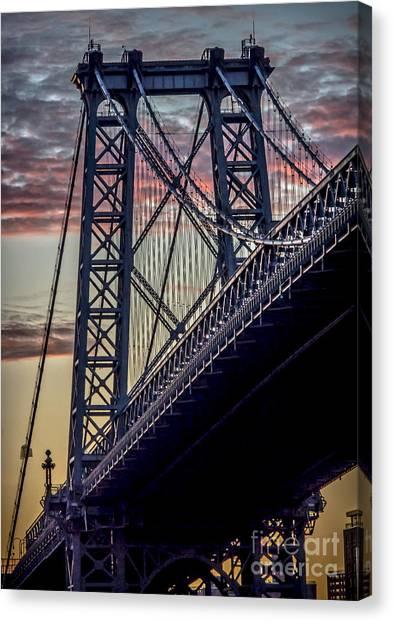 Williamsburg Bridge Structure Canvas Print