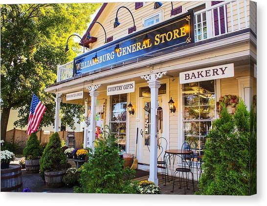 Williamsburg General Store Mass Canvas Print