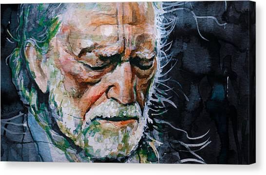 Willie Nelson 7 Canvas Print