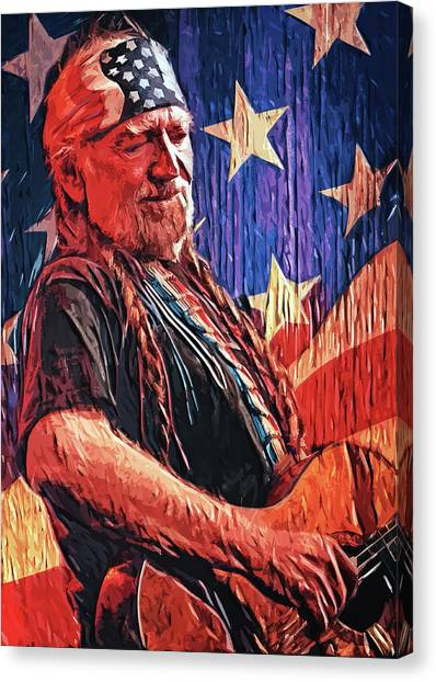 Marijuana Canvas Print - Willie Nelson by Zapista