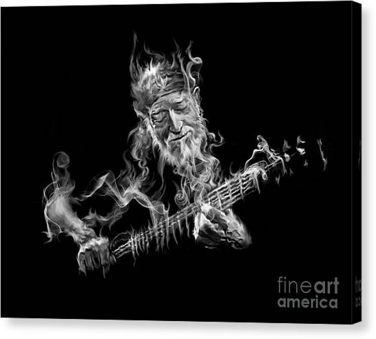 Willie - Up In Smoke Canvas Print