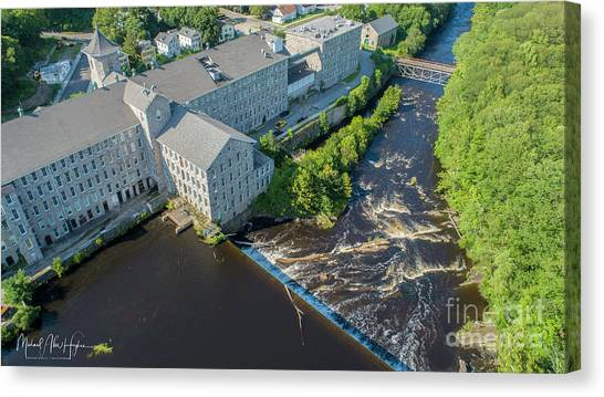 Willimantic River And Mill #2 Canvas Print