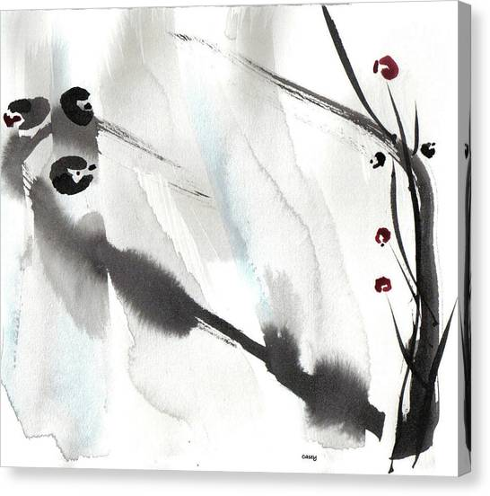 Willow Birds Canvas Print