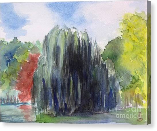 Willow Tree -2  Hidden Lake Gardens -tipton Michigan Canvas Print