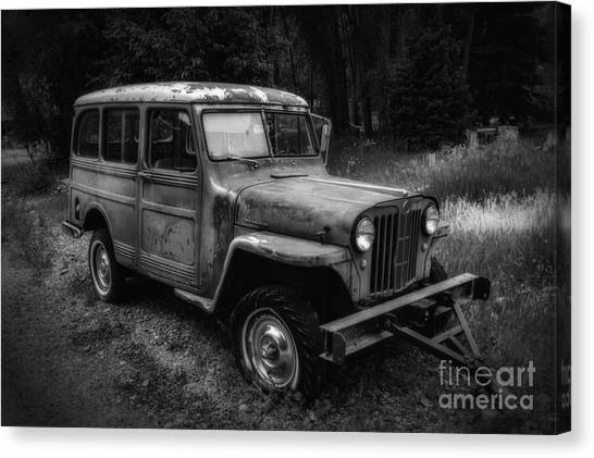 Willys Jeep Station Wagon Canvas Print