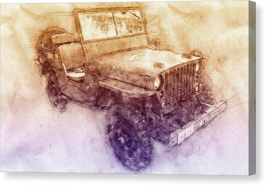 Offroading Canvas Print - Willys Mb 2 - Ford Gpw - Jeep - Automotive Art - Car Posters by Studio Grafiikka