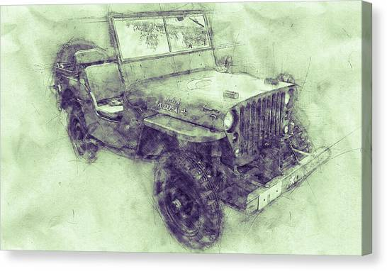 Offroading Canvas Print - Willys Mb 3 - Ford Gpw - Jeep - Automotive Art - Car Posters by Studio Grafiikka