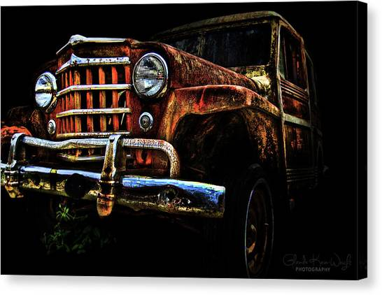 Canvas Print featuring the photograph Willy's Station Wagon by Glenda Wright
