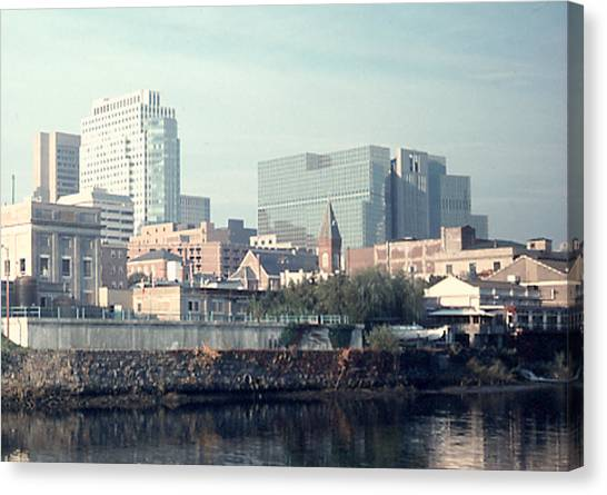 Wilmington From The Brandywine Canvas Print