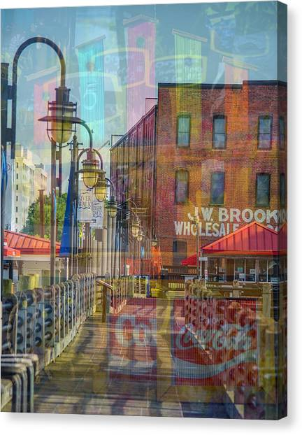 Wilmington North Carolina Riverfront Canvas Print