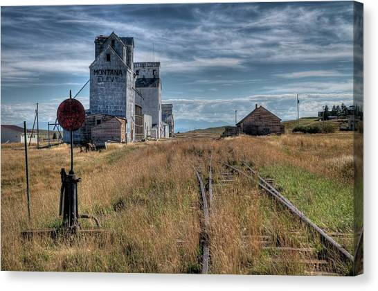 Wilsall Grain Elevators Canvas Print