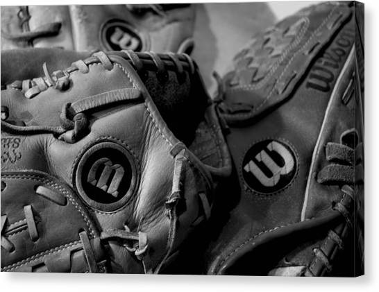 Baseball Canvas Print - Wilson 3 by Jame Hayes