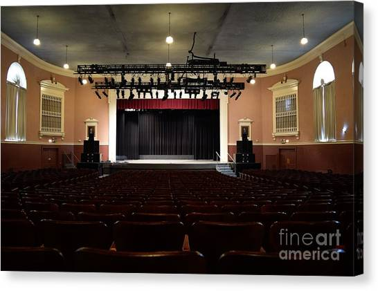 James Madison University Jmu Canvas Print - Wilson Hall Auditorium by Ben Schumin