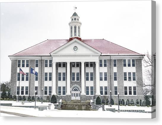 James Madison University Jmu Canvas Print - Wilson Hall by Cara Walton