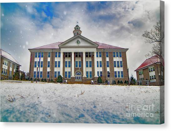 James Madison University Jmu Canvas Print - Wilson Hall Hdr by Cara Walton