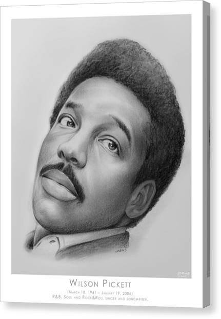 Rhythm And Blues Canvas Print - Wilson Pickett by Greg Joens