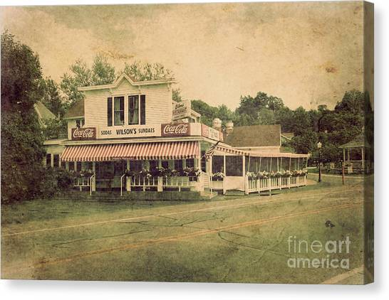 Wilson's Restaurant And Ice Cream Parlor Canvas Print
