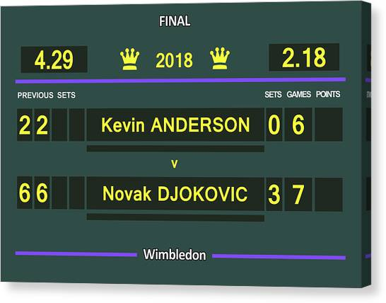Andre Agassi Canvas Print - Wimbledon Scoreboard 2018 Men Final by Carlos Vieira