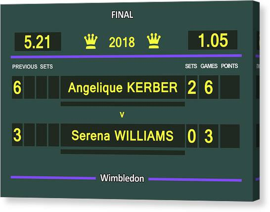 Serena Williams Canvas Print - Wimbledon Scoreboard - Customizable - 2017 Muguruza by Carlos Vieira