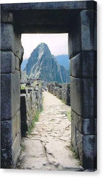 Winay Picchu Canvas Print by Kathy Schumann