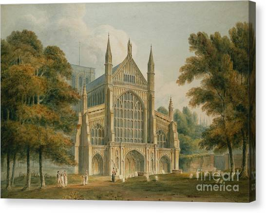 House Of Worship Canvas Print - Winchester Cathedral by John Buckler